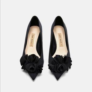 Zara floral heels size 9